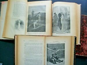 livres anciens Victor Hugo - Les Misérables - 5 volumes