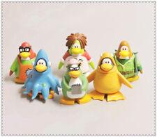 "lot of 6 Disney Club Penguin pvc Figure 2.5""  high #F6"