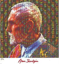 BLOTTER ART TIMOTHY LEARY PROFILE SIGNED AND NUMBERED BY ANN SHULGIN ONLY 12