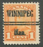 "CANADA PRECANCEL ""WINNIPEG"" 5-149"
