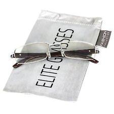 Elite WOOD Buffs Art Nouveau VINTAGE Semi Rimless Gangster RICH Frame EyeGlasses