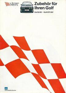 VW Golf Vetex Zubehör Prospekt aus 8/1986 für Golf 8/83 bis Golf GTI 16V