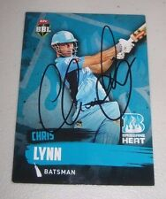 Chris Lynn (Australia) signed Brisbane Heat  BBL card + COA