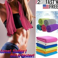 US Instant Ice Cooling Towel Golf Sports Workout Fitness Gym Yoga Hiking Pilates