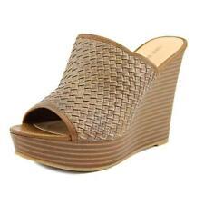 Sandalias y chanclas de mujer de tacón alto (más que 7,5 cm) de color principal marrón talla 41