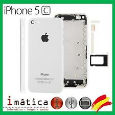 CHASIS IPHONE 5C CARCASA COMPLETA MARCO TAPA TRASERA APPLE BLANCO WHITE CHASSIS