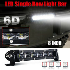 8inch 60W LED Work Light Bar Spot Flood Combo 6000K ATV Slim Single PK 12'' 14''