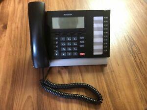 Toshiba DP5022-SD Phone Display 10 Button Black Nice Strata Tested Warranty