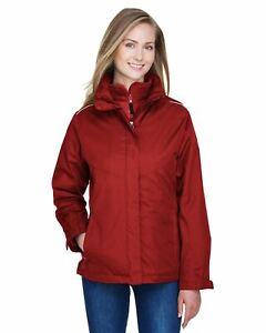 Core 365 Womens Region 3-in-1 Jacket Fleece Liner 100% Poly Twill Shell 78205