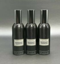 White Barn Bath & Body Works Concentrated Room Spray MAHOGANY TEAKWOOD Lot of 3