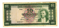 TURKEY…..P-160…..10 Lira…..L.1930(1953)…..*VG/F*