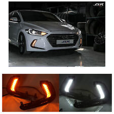 White DRL LED Daytime Running Lighting Day Lamp For Hyundai Elantra 2016-2017