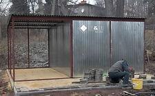 Blechgarage 5x2,5x2,15m Lager Garage Garagen Blechcontainer Carport Halle N04