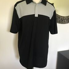 Callaway Mens Black and Gray Short Sleeve Shirt Size XXL