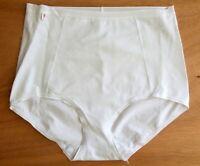 Ladies size 12 cotton medium control Maxi Briefs knickers panties White