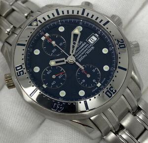 OMEGA Seamaster Chronograph Auto Chronometer Blue Dial Serviced 41mm 2598.80