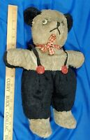 """Antique LARGE Mohair Teddy Bear Plush Toy Doll Stuffed Animal 16"""" Mouse Rare old"""