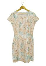 NEW! AUTHENTIC H&M LOGG LINEN CASUAL SHORT SLEEVE DRESS (NATURAL, LARGE)