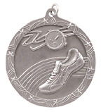 Silver Track Medal with FREE Ribbon-Low Shipping #XM161