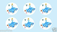 Cinderella Princess 30 CUP CAKES TOPPERS EDIBLE  ICING SUGAR  3.75 CM  cut out