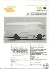 N° 2027 / prospectus Fourgons UNIC   FIAT   OM       9/69