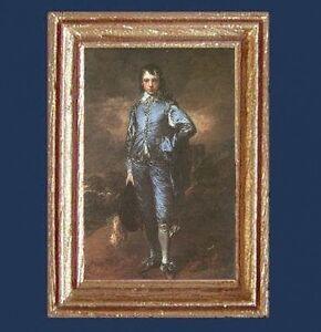 """BLUE BOY"" Dollhouse Picture Framed Miniature Fine Art - MADE IN AMERICA"