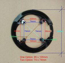 Bike Chainring Chain Guard, 42T, 74x74mm BCD 4 bolts, Black Color