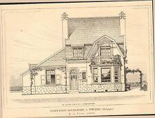 TONGRES TONGEREN HABITATION BOURGEOISE ARCHITECTE FOUCART IMAGE 1917/20