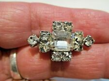 Set Clear Rhinestone Pin/Brooch Vintage Antique Small Prong