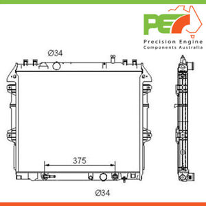 Brand New * PROTEX * Radiator For Toyota Hilux KUN Series Part# RADT133