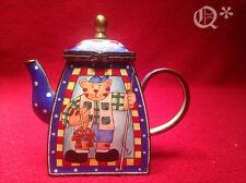 KELVIN CHEN Enamel Mini Teapot Cat Fisherman 2005