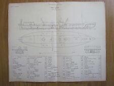 MAHART HUNGARY Österreich AUSTRIA GERMANY REGENSBURG MARINE SHIP OLD PLAN 1859 ?