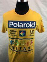 Polaroid Since 1937 Yellow Vintage Retro Look Japanese Lettering T Shirt SZ: M