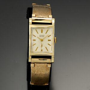 Gruen Bracelet Dress Watch | 17Jewel Manual, Yellow Gold Filled Rectangular Case