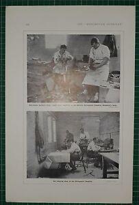 1916 WWI WW1 Estampado ~ Discharged Soldados Zapato Reparando Ortopédica