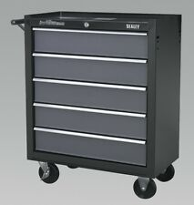 AP 2505 B Sealey ROLLCAB 5 Drawer With Ball Bearing Runners Black Grey