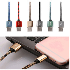 Braided Micro USB Data Charger Cable Short For Samsung Galaxy S5 S4 Note HTC LG