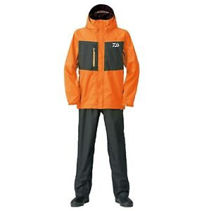 DAIWA Rain Max Suits DR-36008 ORANGE Fishing Jacket Pants SET Japan F/S NEW