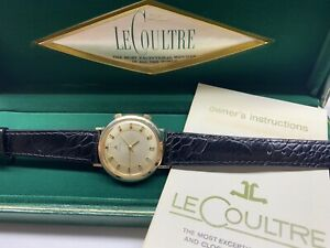 beautiful vintage lecoultre memovox k814 wrist alarm watch with box & papers🇨🇭