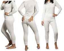 Women's 2-Piece Thermal Underwear Set Long Johns Waffle Knit Stay Warm S M L XL