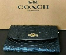 Coach Python Medium Envelope Wallet Metallic Denim F39114 MSRP $250