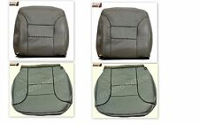 1995 To 99 chevy Tahoe Suburban Silverado Front Row Set Leather Seat Covers Gray