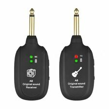 UHF Guitar Wireless System Transmitter Receiver Built-in Rechargeable