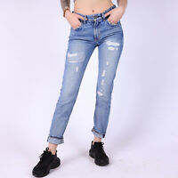 Levi's 505 Cropped Damen Blue on Blue Blau Jeans Größe DE 32 / US W24