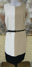NWT THE LIMITED COLOR BLOCK STRETCH DRESS SZ 12 FULLY POLY LINED WITH BLACK BELT