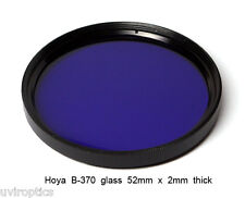 Hoya B-370 52mm x 2mm thick UV Ultraviolet Bandpass Dual Band IR Camera Filter