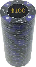 Poker Chips (25) $100 Tri-Gold 14 g Clay Composite FREE SHIPPING *