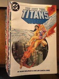Lot Of 50 New Teen Titans / New Titans DC Comics 1985-1995