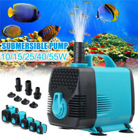 600-3000L/H Water Pump Submersible Aquarium Pump Fish Pond Tank Sump