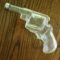 Revolver Candy Container Large Gun With Fancy Grip Glass  circa 1920